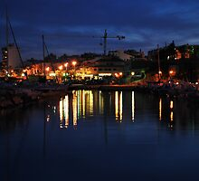 Harbour at night by Richard Nelson