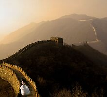 Ascending the Great Wall by phatpuppy