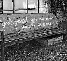 Elysian Grove Market Bench by Linda Gregory