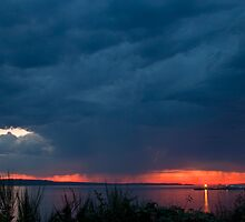 Storm at Sunset by Barb White