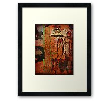 Bisbee Graffiti Wall Framed Print