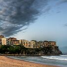 Queenscliff Beach Winter Sky by baddoggy
