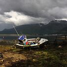 Summer Storms over Ben Nevis from Camusnagaul. by John Cameron