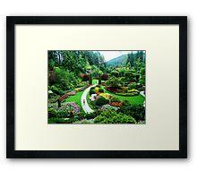 Butchart's Gardens Framed Print