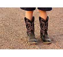 Child's Boots Photographic Print
