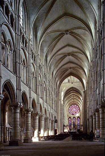 1984 Laon Nave and Rose window by Fred Mitchell