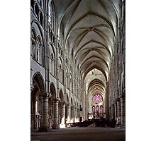 1984 Laon Nave and Rose window Photographic Print