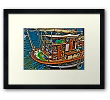 Fisherman  Boat Framed Print