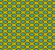 yellow turquoise pattern by Donna Grayson