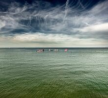 Dinghy Racing, Colwyn Bay. by maxblack