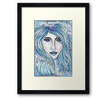 Girl & The Sea Framed Print