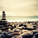 Rock Balancing on the Nice Promenade by cormacphelan