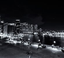 Sydney By Night Monochrome by MiImages