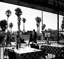 The Venice Beach boardwalk by Mike Hiratzka