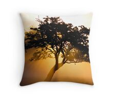 Burning Tree Throw Pillow