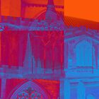 pink, blue and orange church by Michelle Brogan