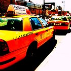yellow cab taxi rank by Ravia Khatun