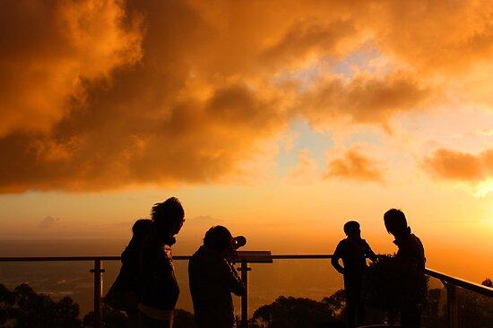 Capturing the sunset by Ian Stevenson