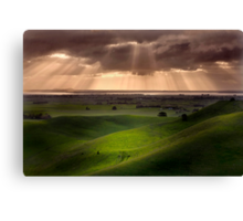 The Lightshow - Red Rock Colac Canvas Print