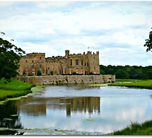 Raby Castle (the flag only flies when The Baron is in residence) by Morag Bates