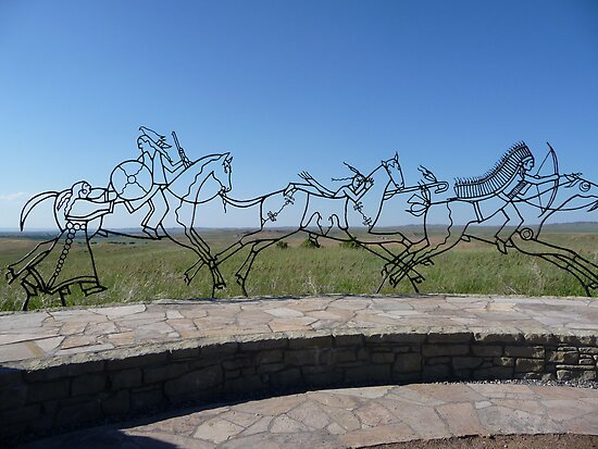 Indian Memorial at Little Big Horn Battlefield by Braedene