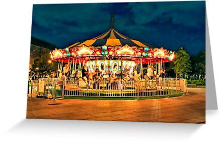 Merry-go-round by Evelina Kremsdorf