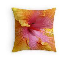 giant hibiscus Throw Pillow