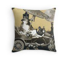Steampunk Alice Throw Pillow
