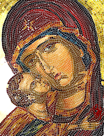 Madonna and Child / homage to mothers by bev langby
