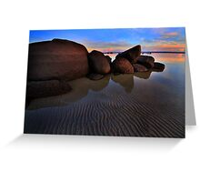 Tide Lines on the Rock Greeting Card