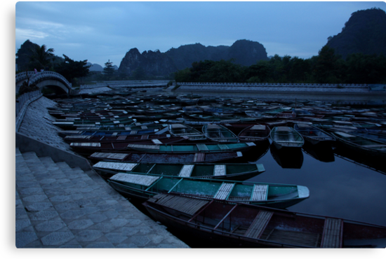 Tam Coc Boats by Leonie Harris