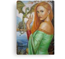 Tamlina and the Dragon Canvas Print