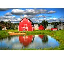 Country Barnyard Photographic Print