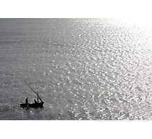 Little Us In Our Little Boat On A Big Sea Photographic Print