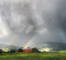 Rainbow Dark on the Bridgers by Kay Kempton Raade