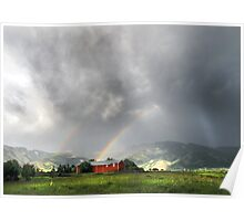 Rainbow Dark on the Bridgers Poster