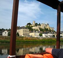 Medieval_Chinon_Fortress_from_River_Vienne by Keith Richardson