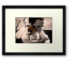 Buddy and Belle Framed Print