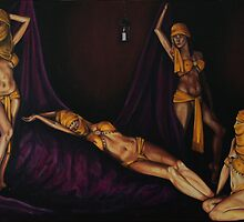 Golden Girls and purple drapes by rogerpaints