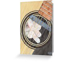 Guitar Possessed Greeting Card