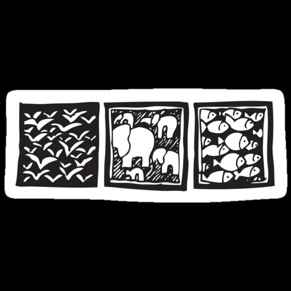 Three Icons Tee by Gudrun Eckleben