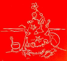 Australian Christmas in Red by Gudrun Eckleben