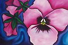Pink Pansies by Jacqueline Eden