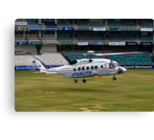 Sikorsky S-92 Landing at The Wanderers Cricket Stadium Canvas Print