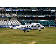 Sikorsky S-92 Landing at The Wanderers Cricket Stadium Photographic Print
