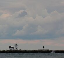 lighthouse before a storm by 1busymom