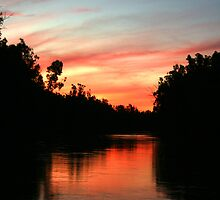 River Murray Sunset by liquidlines