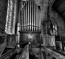 Many a Hymn (B&W) - The Garrison Church c.1843, The Rocks Sydney- The HDR Experience by Philip Johnson