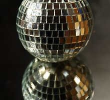 Shiny disco ball by Tamara Bush