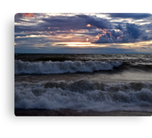 Waves on the Shore Canvas Print
